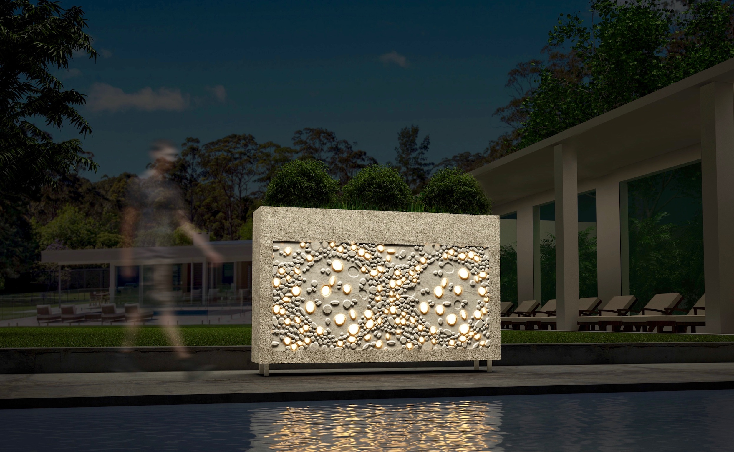 Anoma Illuminated Cuboids Natural Stone Kinetic #01 Crema Limestone
