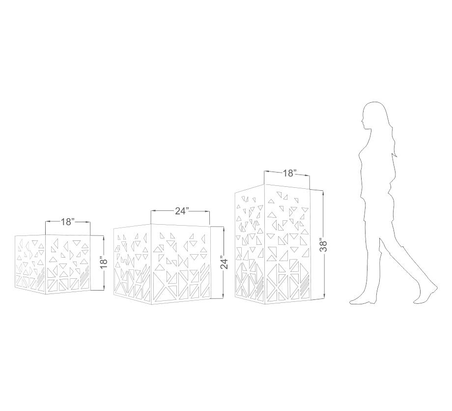 Anoma Kona Cuboid Planter Size Guide
